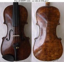 OLD GERMAN HOPF VIOLIN - see video - ANTIQUE master バイオリン rare скрипка 小提琴 694