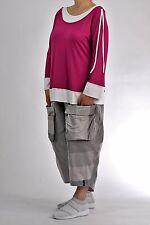 ♦ Chalona Shirt Gr. 2..42,44,46,48 pink-weiß, Knöpfe&Bänder ♦