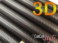 3D Air Free BLACK Carbon Fibre Vinyl 1.5m(59.8in) x 0.3m(11.8in) Wrap Car Decal