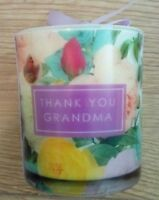 Thank You Grandma Candle Votive Glass Pot Present Gift Stocking Filler Gran