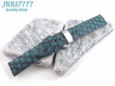 20mm Men's Watch Strap Carp Fish Genuine Leather Lake Green Deployment Trendy