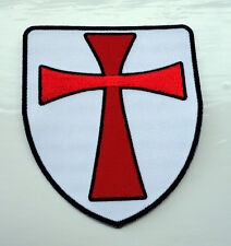 P2 Knights Templar Shield Iron on Patch Crusader St George Biker Crusade Cross