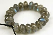 High Iridescent Labradorite Small Faceted Rondelles - 6 x 3 mm - 20 beads -7410A