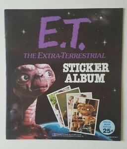 1982 Unused E.T Topps Sticker Album - Excellent Condition! NOS