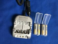 12v Car AA/AAA Battery Charger with 4 AA Rechargeable NiMh 2500mAh /battery case