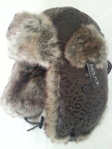 QUALITY LADIES RUSSIAN FAUX-FUR TRAPPER COSSACK SKI WINTER HAT
