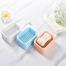 Bathroom Shower Travel Soap Dish Case Holder Water Draining Container Box