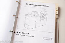 AGFA MSC 101 8506/111 8506/121 Spare Parts List in Binder 08.11.99 - USED 6
