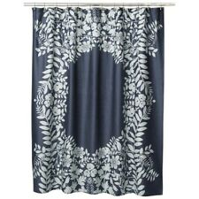 Room 365 Target Cotton Shower Curtain Fabric Floral Blue Navy NEW