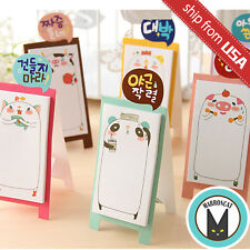 Lot 6 Cute Animal Cartoon Pig Cat Pan Memo Panda Korean Stationery Sticky Notes