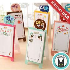 Lot 6 Cute Animal Cartoon Pig Cat Pan Memo Panda Korean Stationery Sticky Notes