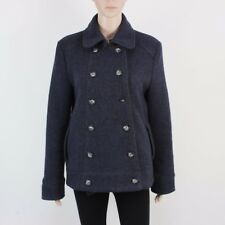 GAP Womens Size L Blue Grey Button Up Wool Jacket Coat