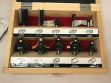 Craftsman 10pc Router Bit Set w Wood Box