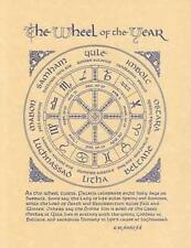 Pagan Wiccan Witch Wheel of the Year Parchment Page for Book of Shadows, Altar!