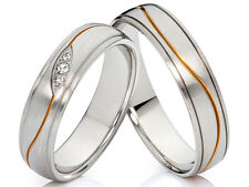 2 Ringe Eheringe Verlobungsringe Trauringe aus Edelstahl & gratis Gravur