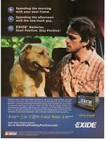 2011 Exide Battery Dog Man Magazine Print Advertisement Page
