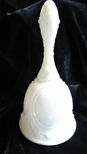 Fenton Art Glass Cabbage Roses Cameo Milk Glass Bell