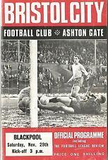 Bristol City v Blackpool - Div 2 - 29/11/1969 - Football Programme