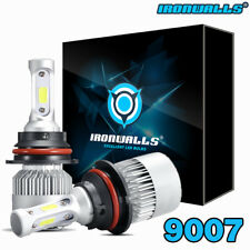 9007 HB5 Dual Hi/Lo Beam 1300W 195000LM LED Headlight Conversion Kit Bulbs 6000K