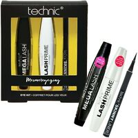 Technic Mesmereyezing Eye Kit Mega Lash Mascara Primer Skinny Liquid Eyeliner
