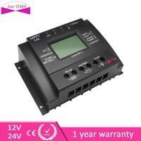 LCD 60/80A MPPT Solar Panel 3 Timer Regulator Charge Controllers 12/24V Black.UP