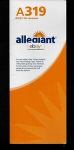 ALLEGIANT AIR AIRBUS A-319 SAFETY CARD 2/1/2018 INTERACTION RESEARCH