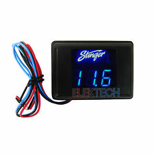 Stinger Svmb Voltmeter 3-Digit Blue Led Voltage Display Gauge Voltage Meter New