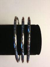Silver Colored Fashion Bangle Bracelet - A-B-30