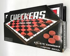 Folding Checkers Travel Game 2 Player 9.75 In Gameboard New