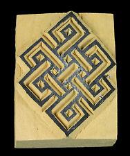 Grande Nodo Infinito Stampo Inchiostro Buddista Album Legno Tibetano 810 -39