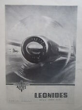 10/1946 PUB ALVIS AERO ENGINES LEONIDES AIR COOLED RADIAL ENGINE ORIGINAL AD