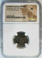 Victorinus Romano-Gallic Empire AD 269-271 NGC XF Bi Double Denarius Ancient