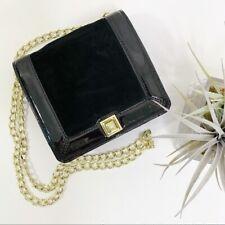 Talbots Patent Leather & Suede Evening Bag Women's Shoulder Bag