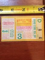 1935 World Series Ticket Stub Wrigley Field Game 3 Chicago Cubs Detroit Tigers