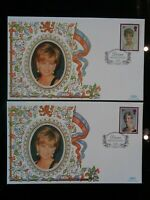 GT BRITAIN 1998 BENHAM SILK PRINCESS DIANA FIRST DAY COVERS CARDIFF SPECIAL HS