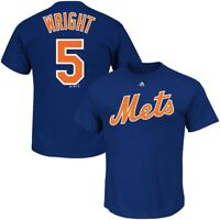 New York Mets MLB Mens Majestic David Wright Player Shirt Royal Big & Tall Sizes