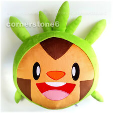 "~ Japan Pokemon XY - promotion - soft plush DOLL cushion - 16"" CHESPIN * rare"