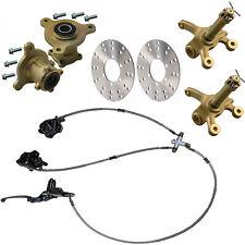 Go kart ATV 3 Stud Front Wheel Rim Hub & Steering Spindle & Disc Brake Assembly