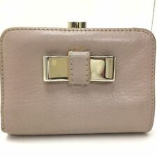 WOW 100% Authentic CHLOE light Brown Leather Ribbon Wallet HOT DEAL