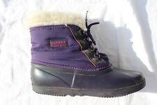 Vtg Sorel Kaufman Canada Duck Boots Rain Snow Lace Up Liner Ankle Womens 9 PLUM