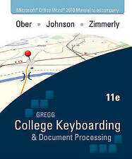 USED (GD) Microsoft Office Word 2010  Manual to accompany Gregg College Keyboard