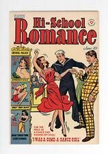 HI-SCHOOL ROMANCE #9  VF/NM  VERY RARE GGA GOLDEN AGE - 1951