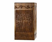 """Handmade Rosewood Urn for Human Ashes - of Small - 8Hx4.75W"""" (115 Cu/In) Tree"""