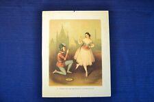 Antique CARLOTTA GRISI And JULES PERROT Colorized Print Ballet Esmerelda