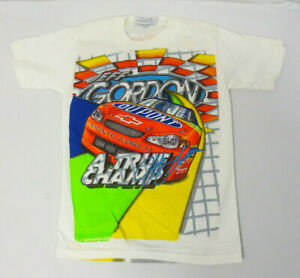 JEFF GORDON NASCAR YOUTH SHIRT SMALL 6-8 VINTAGE RETRO VT DUPONT CHASE WHITE