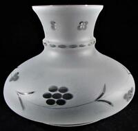 """Vintage Frosted Satin Glass Wheel Cut to Clear Astral Sinumbra Lamp Shade for 6"""""""