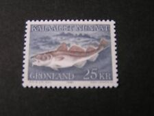 GREENLAND, SCOTT # 140, 25k VALUE 1980-86  FISH CODFISH ISSUE MNH
