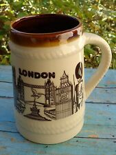 Big Coffee Cup Tea Mug ~*~ LONDON, England ~*~ Tower, Bridge, Guard, Parliament+