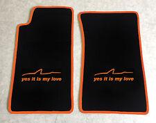 Autoteppich Fußmatten für Mazda MX 5 NA Miata schwarz orange yes it is my love