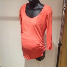 New Look Maternity Orange/Coral Top, 3/4 Sleeve, Size 10